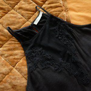 Nordstrom Lush Black Lace Halter Swing Dress